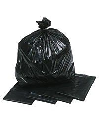 "18 x 29 x 39"" Black Refuse Sacks, Medium"