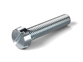 DIN84 M4 x 25 Slotted Cheese Screw Zinc