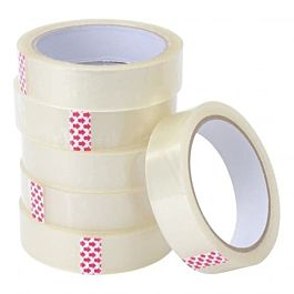 24mm x 66m Clear Polyprop Tape